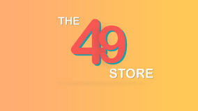 The 49 store special promotional sale backdrop graphic illustration. Royalty Free Stock Photography