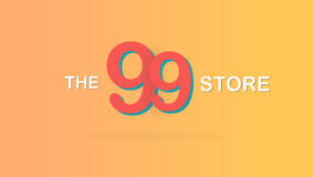 The 99 store special promotional sale backdrop graphic illustration. Stock Photography