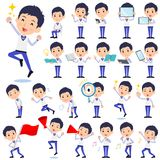 Store staff Blue uniform men_2 royalty free illustration