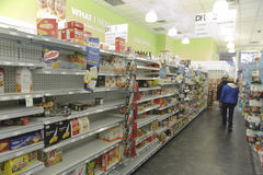 Store after storm Sandy. Empty isles in a store after super storm Sandy Stock Photo