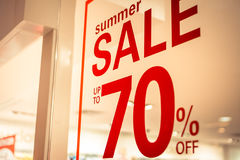 Store summer sale sign Stock Photo
