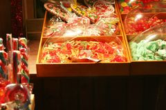 Store of sweets. Store of christmas jelly sweets Royalty Free Stock Photo