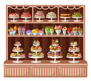 Store of sweets and bakery. Image of a store sweets and bakery Stock Image