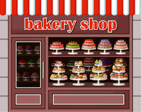 Store of sweets and bakery. Image of a store sweets and bakery. r royalty free illustration