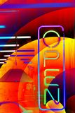 Store Window Neon Abstract Stock Images