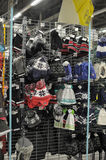 Store winter clothes Royalty Free Stock Image