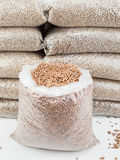 Store of wood pellets Stock Image