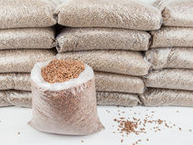 Store of wood pellets Royalty Free Stock Image
