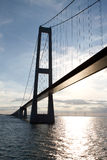 Storebaelt suspension bridge Stock Photography