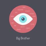 Storebrodern håller ögonen på dig Arkivbild