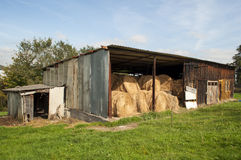 Stored Bales Stock Image
