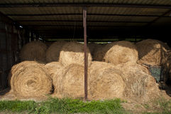 Stored bales Royalty Free Stock Photos