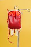 Stored blood in a clinic Royalty Free Stock Image