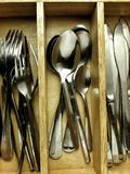Stored cutlery Stock Photos