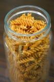 Stored fusilli pasta Stock Photos