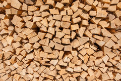 Stored hard wood cut for fire place Stock Photo