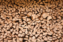 Stored hard wood cut for fire place Royalty Free Stock Photos