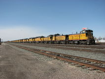 Stored Locomotives Royalty Free Stock Images