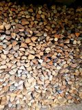 Stored pieces of wood. For winter Stock Image