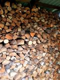 Stored pieces of wood. For winter Stock Images