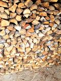 Stored pieces of wood. For winter Stock Photo