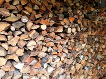 Stored pieces of wood Royalty Free Stock Photography