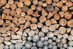 Stored round wood. A texture made from stored round wood Royalty Free Stock Photo