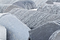 Stored Slate. Stacked mineral slate ready to sell Stock Photo
