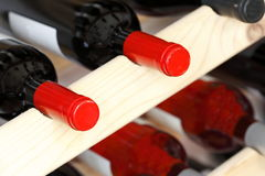 Stored wine bottles Royalty Free Stock Images