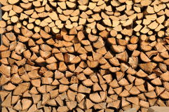 Stored wood. Wood stored for the fire place Stock Image