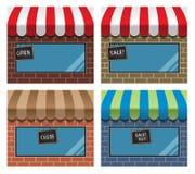 Storefront με awning Στοκ φωτογραφία με δικαίωμα ελεύθερης χρήσης
