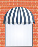 Storefront Awning in blue. Vector illustration of Storefront Awning in blue Royalty Free Stock Images