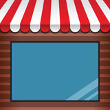 Storefront with awning Stock Images