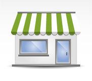 Storefront Awning in Green Royalty Free Stock Image