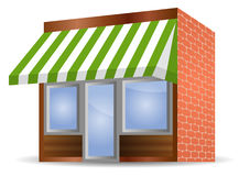 Storefront Awning in green. Vector illustration of Storefront Awning in green stock illustration