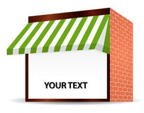 Storefront Awning in green Royalty Free Stock Photo