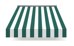 Storefront Awning in green Stock Photo