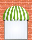 Storefront Awning in green. Vector illustration of Storefront Awning in green Stock Photography