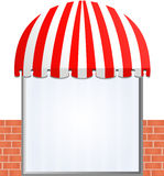 Storefront Awning in red Royalty Free Stock Photos
