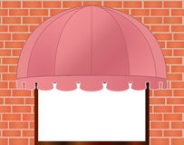 Storefront Awning in reddish pink. Vector illustration of Storefront Awning in reddish pink vector illustration