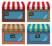 Storefront with awning Royalty Free Stock Photography