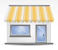 Storefront Awning in Yellow. Vector illustration of Storefront Awning in Yellow stock illustration