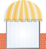 Storefront Awning in yellow Royalty Free Stock Photography