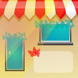 Storefront background Royalty Free Stock Image