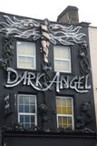Storefront in Camden town. Storefront with a dark angel in Camden town. London Stock Photo