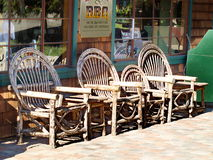 Storefront chairs royalty free stock image