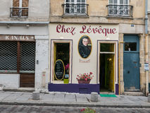 Storefront, Chez Leveque restaurant, Paris, France Royalty Free Stock Photography