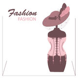 Storefront fashion shop with women accessory . Stock Photography