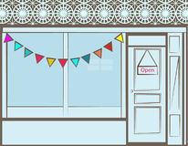 Storefront. Great for small business web pages room for your info Royalty Free Stock Image