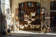 Storefront with handmade goods. Besalu, Spain Royalty Free Stock Photo